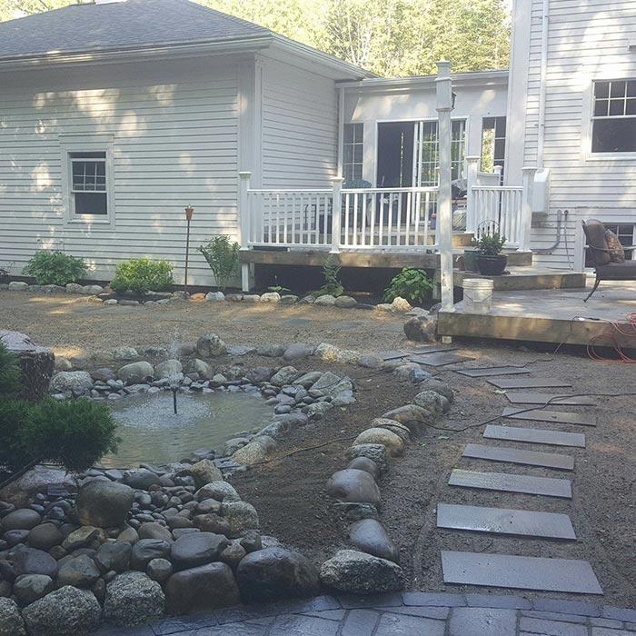 Commercial Property Landscape Design: Harbor Shore Landscaping: Orrington, Brewer, ME: Hardscaping, Lawn Care, Snow Plowing