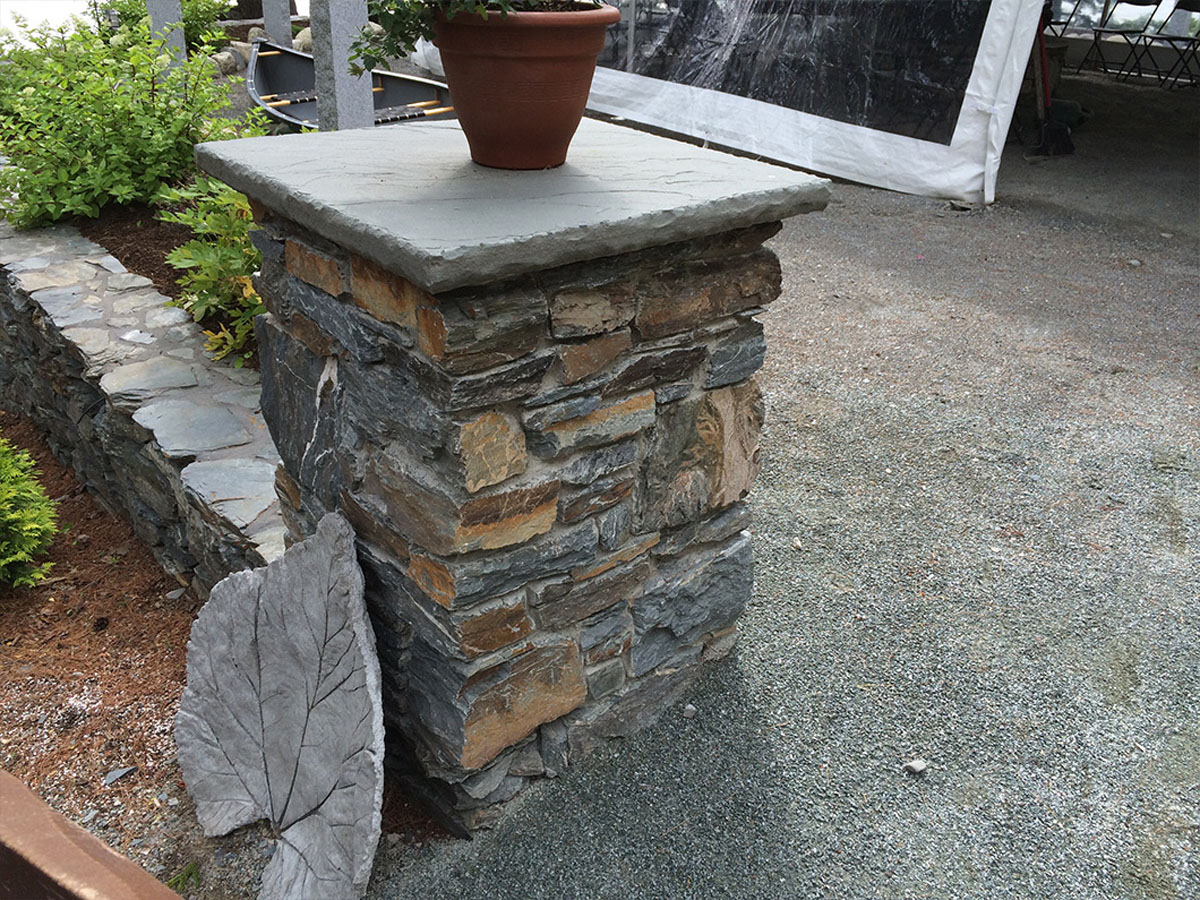 Stone Landscape Projects : Stone veneer projects harbor shore landscaping